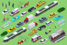 Isometric City Transport With ...