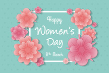 Happy Women's Day - Concept Of...