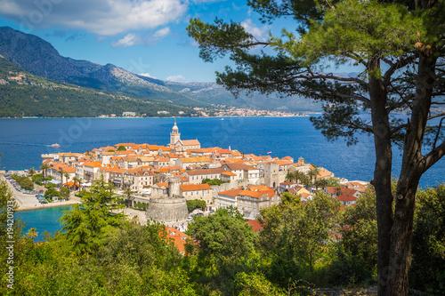 Fototapeta Town of Korcula, Dalmatia, Croatia