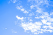 Blue sky and white clouds,idea is to boost the business spirit.