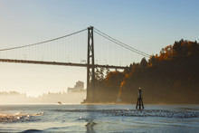 Lions Gate Bridge And Stanley ...