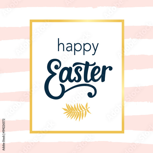 Staande foto Retro sign Happy Easter typography poster template