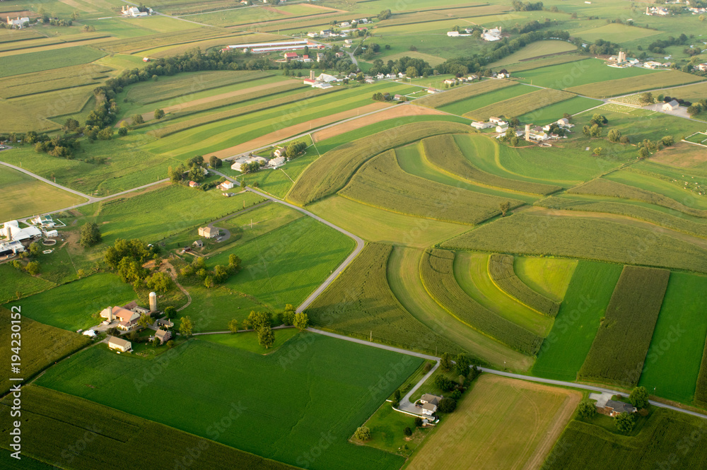 Fototapeta Aerial of Farmland