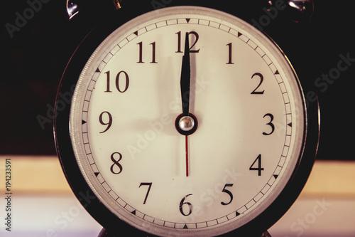 Staande foto Vintage Poster Retro alarm clock black with rust.