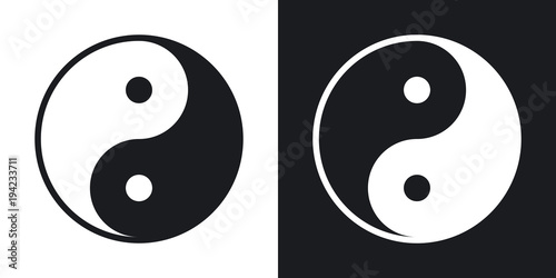 Yin and yang symbol, vector Fototapet
