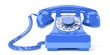 canvas print picture - old blue phone