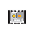 Robot Barcode Logo Icon Design