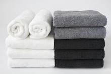 Stack Of Bath Towels Isolated ...