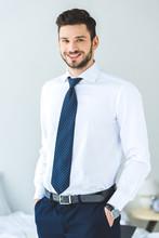 Handsome Smiling Businessman I...