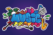 Graffiti. Music Word