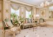 canvas print picture - Luxury classic living room interior