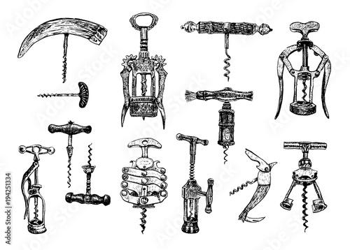 Fotografía  Big set of corkscrew