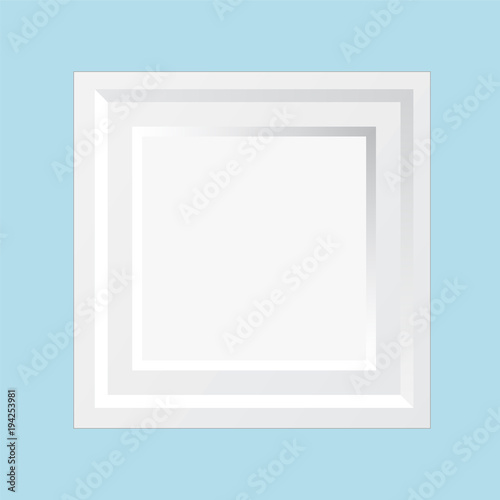 Modern Wooden White Square Wall Frame for Special Moments Memories ...