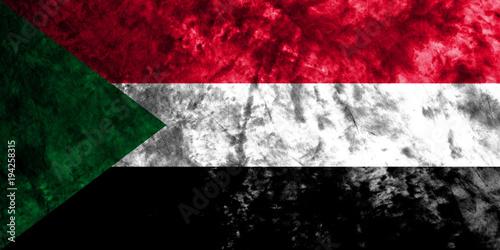 Fototapety, obrazy: Sudan grunge flag on old dirty wall