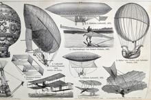 Vintage Illustration - AERONAU...