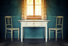 Old  Vintage Room With Table A...