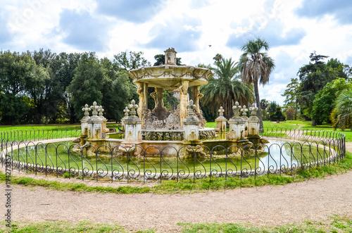 Fotografie, Obraz  Antique fountain in Villa Doria-Pamphili in Rome