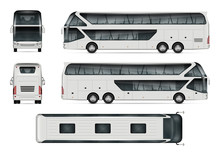 Bus Vector Mock-up. Isolated T...