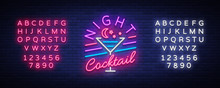 Night Cocktail Is A Neon Sign....