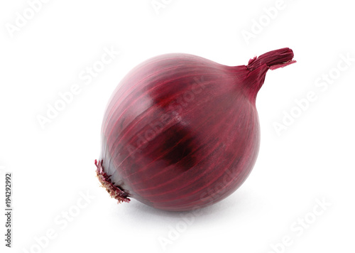 Fotografía  red onion isolated