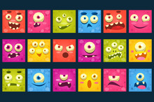 Funny Colorful Square Face Of ...