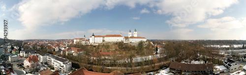 Luftaufnahme der bayerischen Stadt Freising, Deutschland