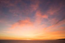 Sunset Evening Sky Over Sea