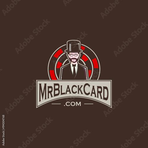 Mr card logo vector graphic illustration Poster