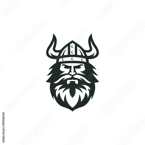 viking logo vector graphic abstract download template Canvas Print