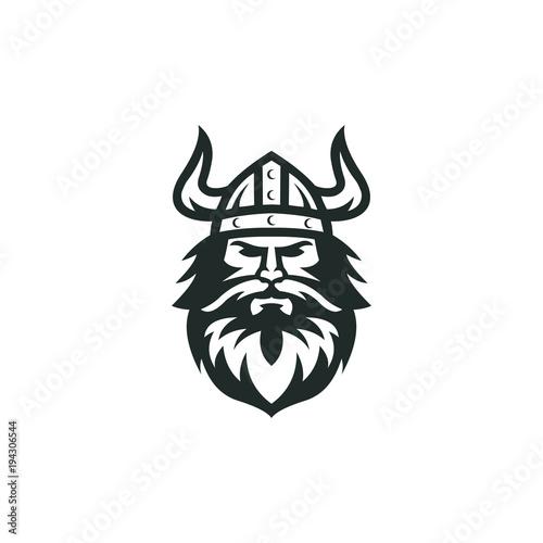Fotografía  viking logo vector graphic abstract download template
