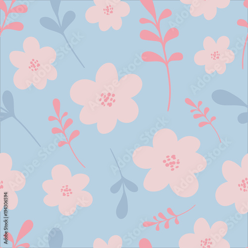 Cotton fabric Elegant vector illustration. Seamless floral pattern. For print, card