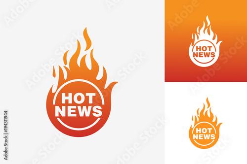 Hot news logo template design vector emblem design concept hot news logo template design vector emblem design concept creative symbol icon maxwellsz
