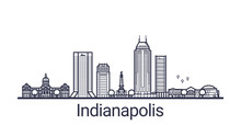 Linear Banner Of Indianapolis ...