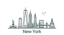 Linear Banner Of New York City...