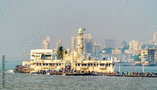 The Haji Ali Dargah, a famous tomb and a mosque in Mumbai, India Wallpaper Mural