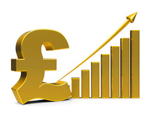 Business Graph Up With Pound S...