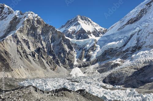 Plakat Szczyt Changtse od Everest Base Camp, 5545m