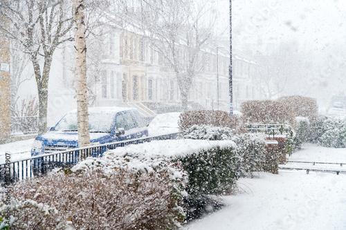 Fotografie, Obraz  Snowstorm at Stoke Newington