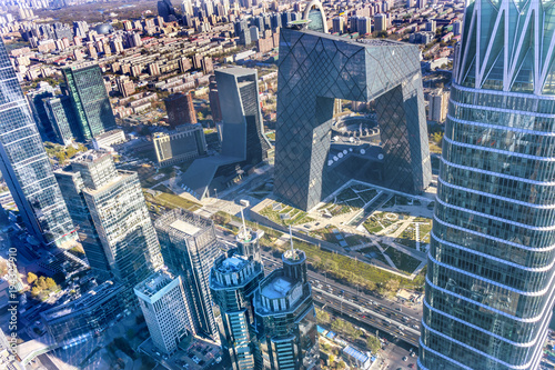 Canvas Prints Peking World Trade Center Z15 Towers Skyscrapers Guamao District Beijing China