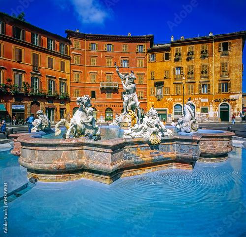 Staande foto Rome Bernini Fountain, Piazza Navona, Rome