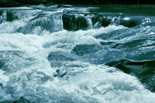 Toned Rapids Stormy River.