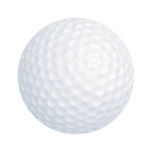 Vector Golf Ball On White Background