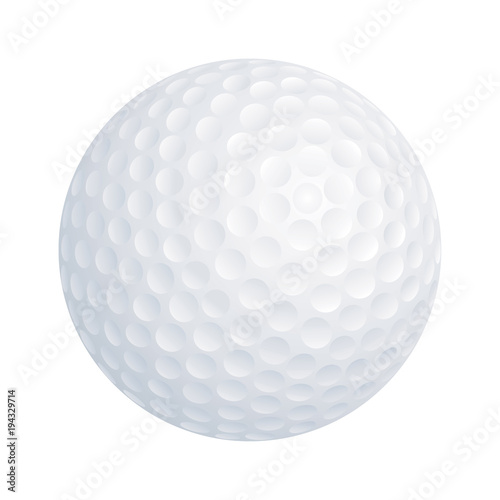 Tuinposter Bol Vector golf ball on white background