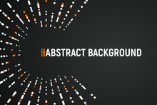 Abstract Salute With White And Orange Dots Vector Illustration. Vector Firework On Dark Background With Place For Text