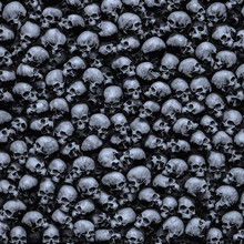 Gothic Skulls Background / 3D ...