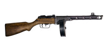 Vintage Submachine Gun With Dr...