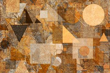 FototapetaShape background pattern, good for graphic design. Modern, artwork, color & art.