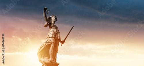 Canvas Print Justitia Figurine Statue - Personification of Justice