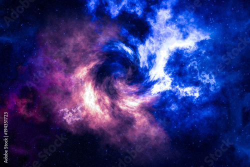 Photo High definition star field, colorful night sky space