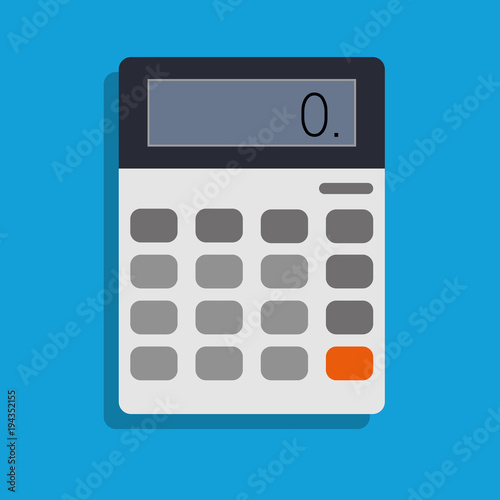 Fotografía  calculator, vector icon illustration , flat design